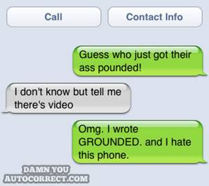 funny iphone auto correct