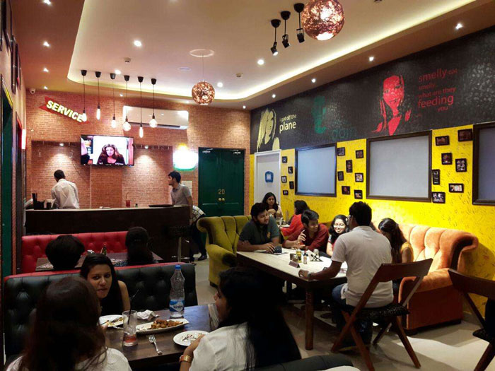 inside look of friends cafe in kolkata