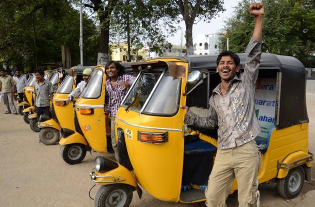 more auto-rickshaws than cars and two wheelers in vidyanagar