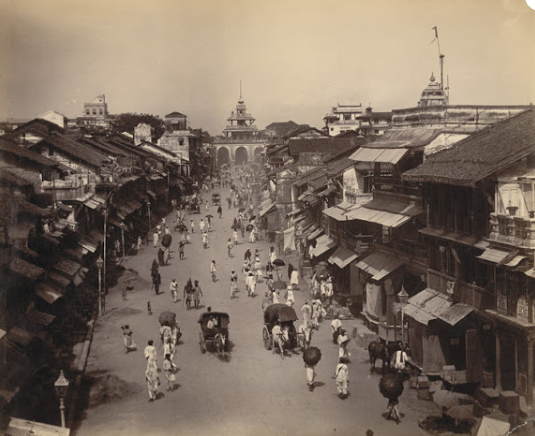 old photo of Mandvi Street