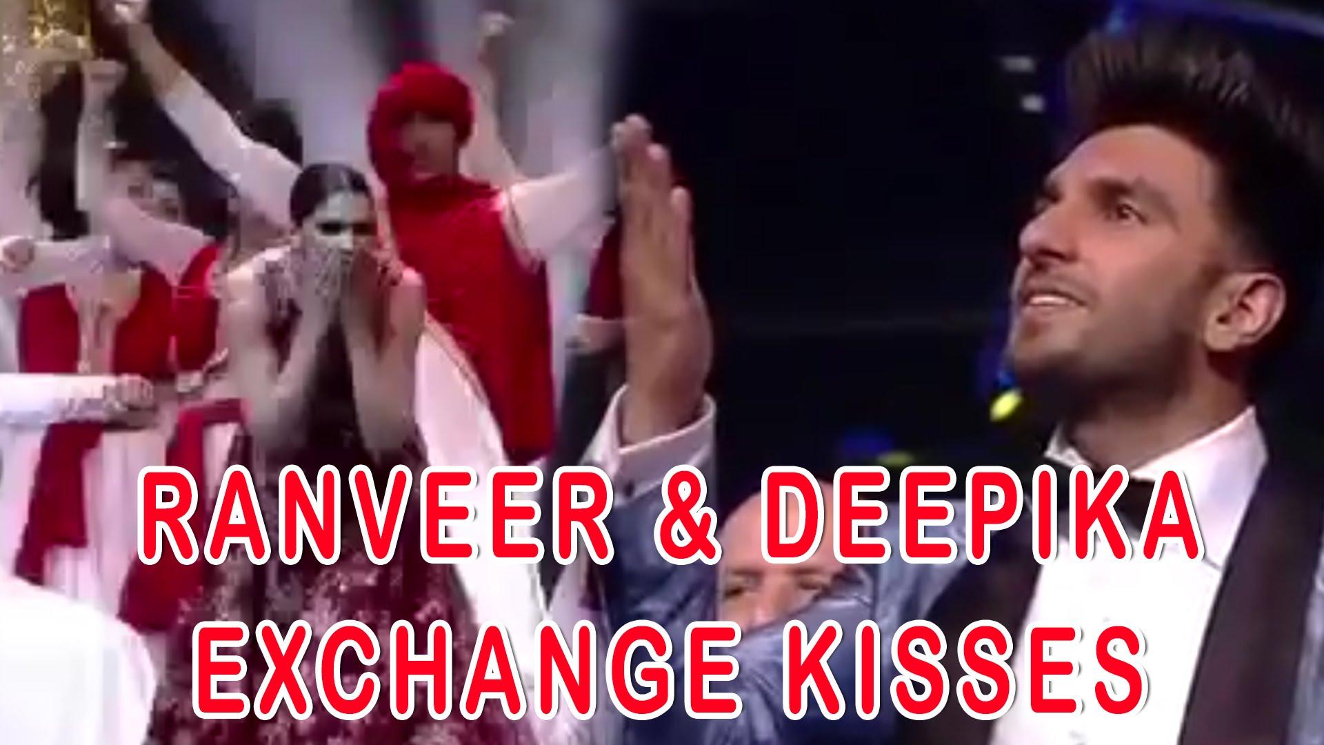 Ranveer Singh And Deepika Padukone kiss