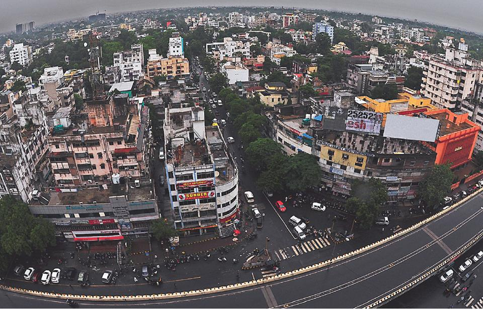 ariel view of nagpur