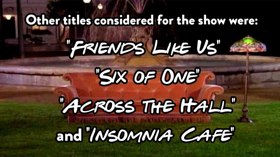 friends orange sofa facts