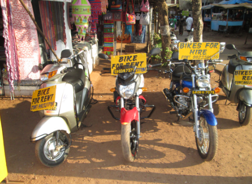 rent a car or bike in goa