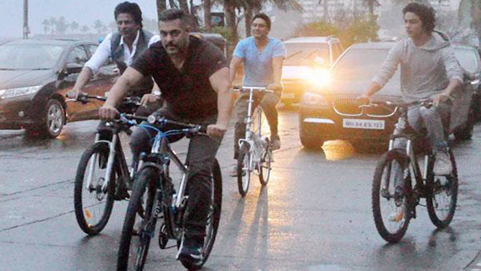 salman khan and srk bicycle ride