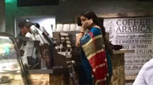 Smriti Irani Standing In A Queue At Starbucks To Get Her Coffee Is Winning The Internet Today!