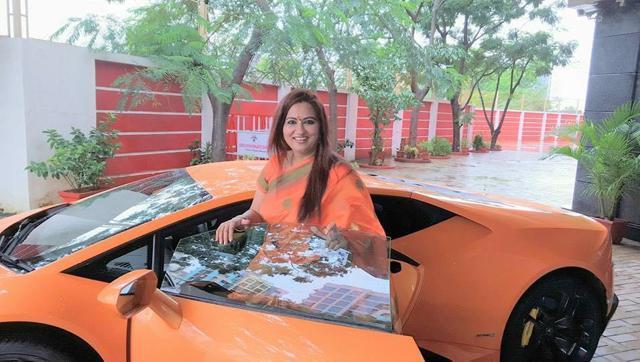 bjp MLA Narendra Mehta wife crashed brand new Lamborghini Huracan
