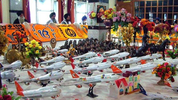 devotees often toy aeroplanes to get visa approved