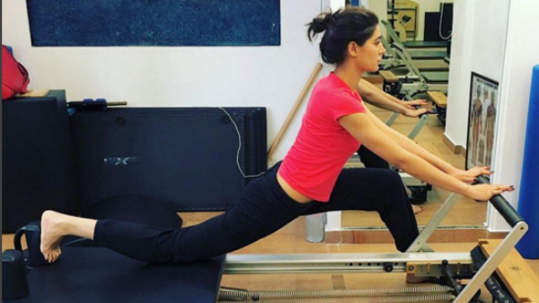 nargis fakhri workout hot photos