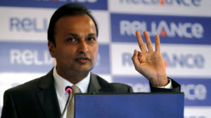 Ambani chairman of the Reliance Anil Dhirubhai Ambani Group speaks during a news conference in Mumbai