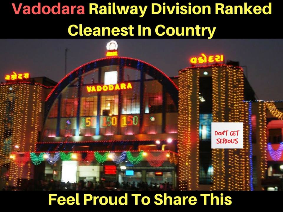 Vadodara railway division ranked cleanest in India