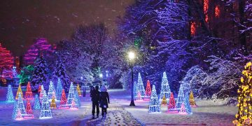 Victoria Park in Niagara Falls Winter Festival of Lights