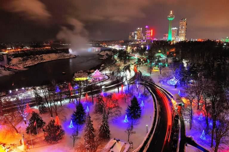 Victoria Park in Niagara Falls Winter Festival of Lights