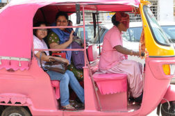 Pink Auto Rickshaws, For Women And By Women Now In Mumbai
