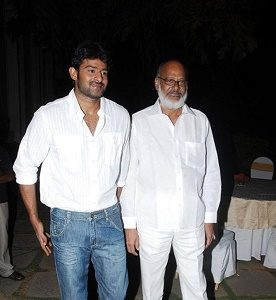 Prabhas with his Father