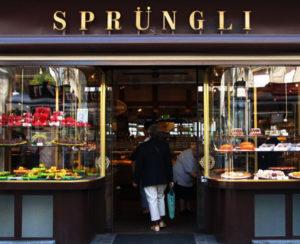 Confiserie Sprungli Shopping in Zurich