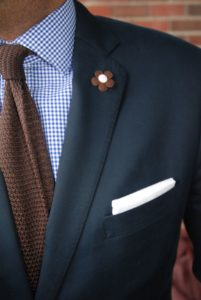 Blue Shirt with a Brown Tie