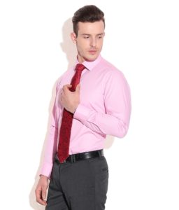 Pink Shirt and Red Tie