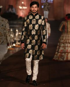 Regular Sherwani with offbeat Colors