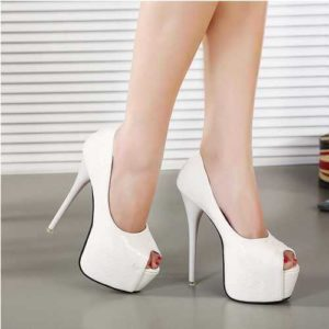 White Color High Heels