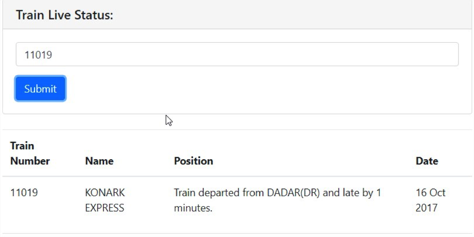 How To Track Current Running Train Status - IRCTC