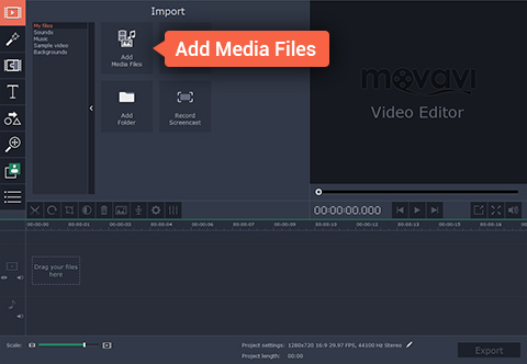 How to mirror a video using Movavi video editor