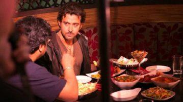 Filmstars dine at Restaurant in mumbai