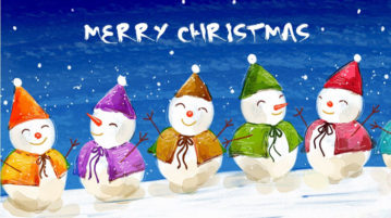 Merry Christmas In Different Languages - French, German, Italian