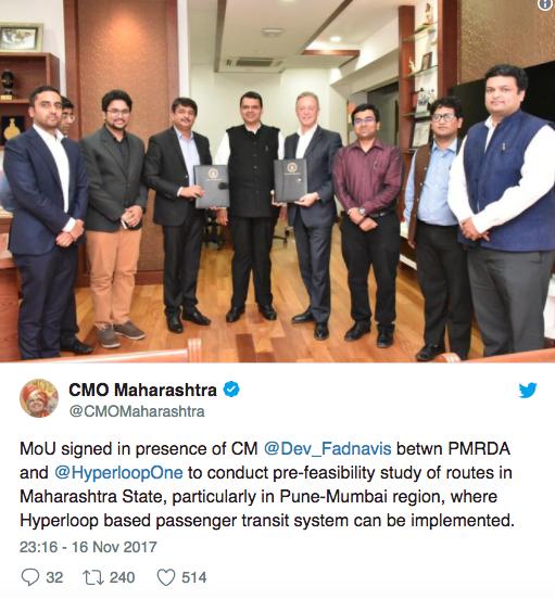 Hyperloop Mumbai Pune in 13 minutes