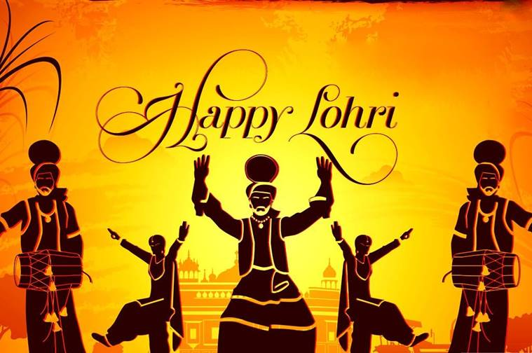 happy wishes lohri image