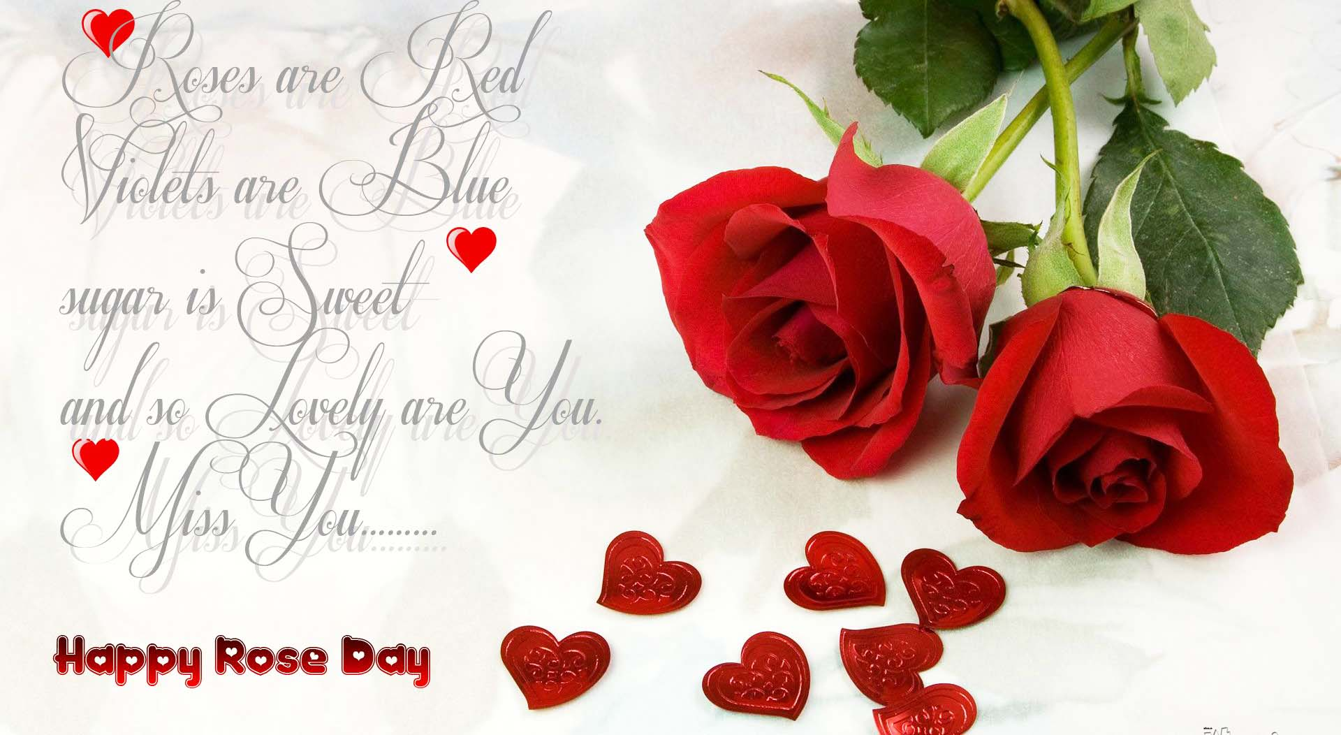 rose day with hearts