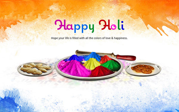 happy holi messages and greetings