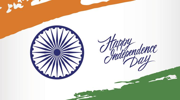 Indian Independence Day greeting card.