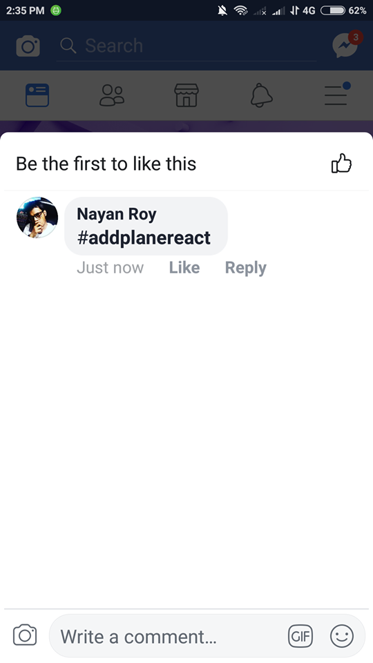 facebook airplane react