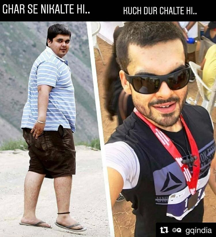 naynesh chainani body transformation and workout