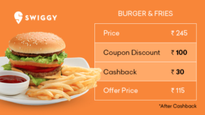 Swiggy NON-POP deals section cashkaro