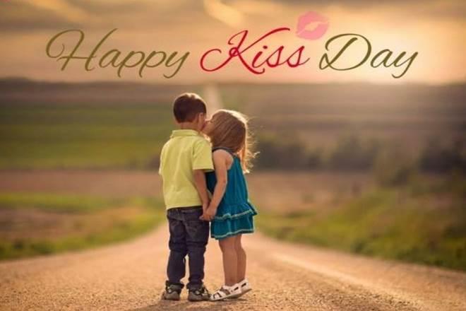 happy kiss day gif