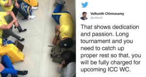 A Tired MS Dhoni Sleeps On The Airport Floor & People Can't Praise His Humility Enough