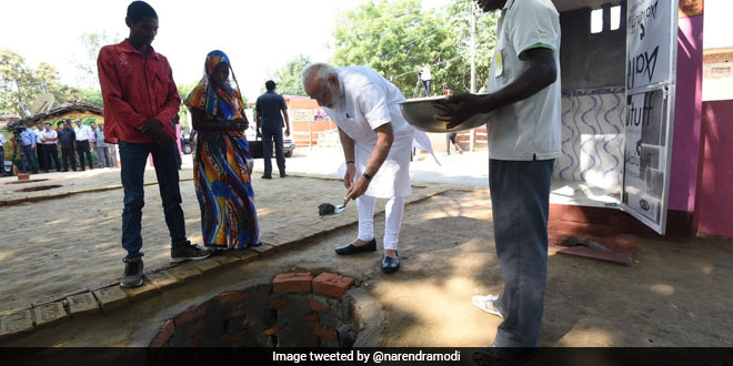 Building Up Toilets narendra modi