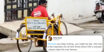 Disabled Zomato Delivery Boy Delivering Food On His Tricycle