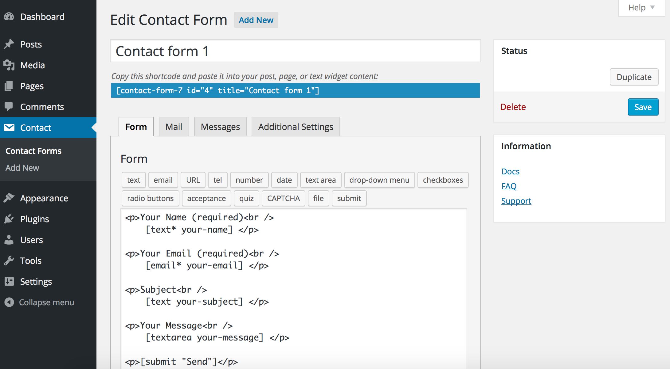 best wordpress plugin Contact form 7 download
