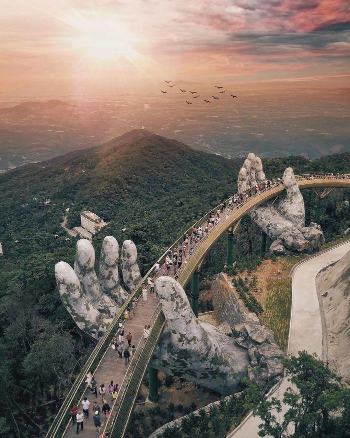 Vietnam Has Coolest Bridge Ever - The View Is Breathtaking