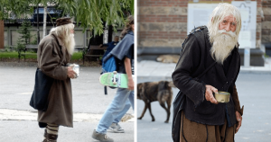 101 Year Old Homeless Man Begs On Street Each Day And Donates Everything To Orphans