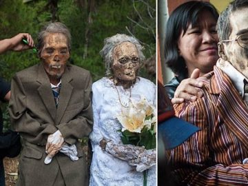 Indonesian Villagers Dig Up Their Dead Relatives & Dress Them Up In Eerie Ritual
