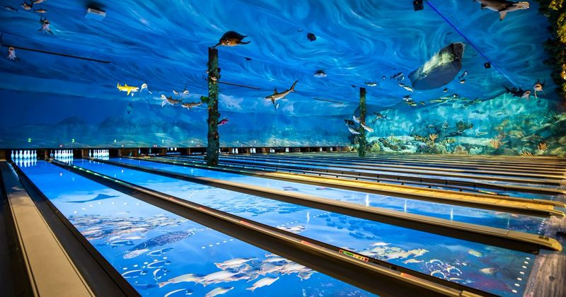 You Can Go Bowling In An Underwater Aquarium With Sharks And turtles