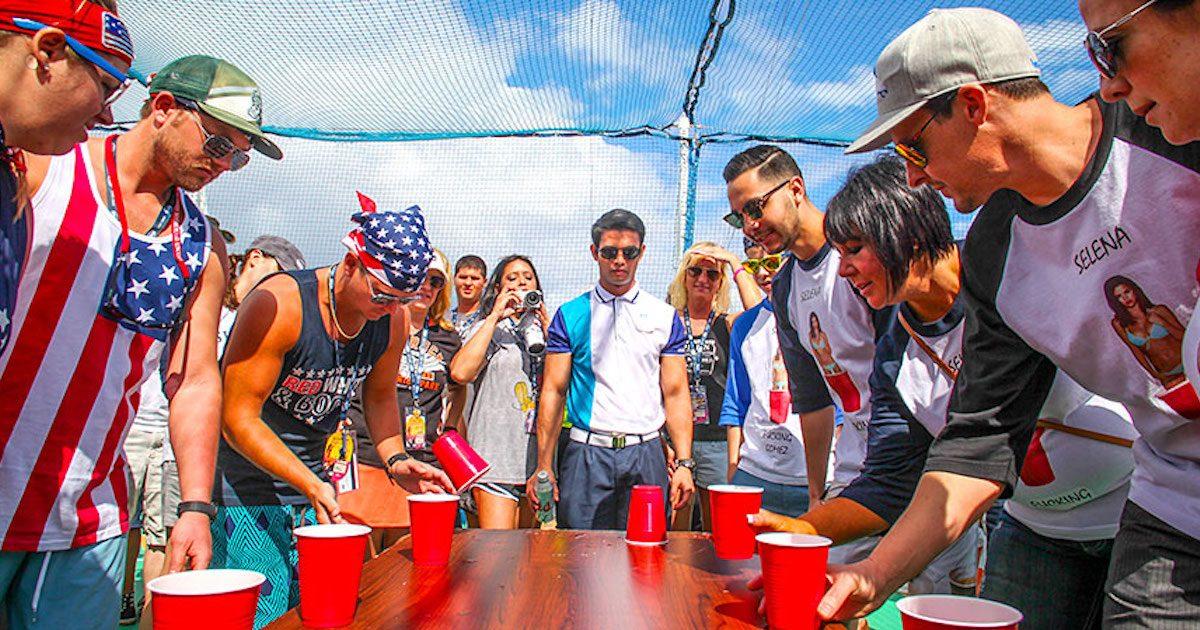 Flip Cup best drinking game