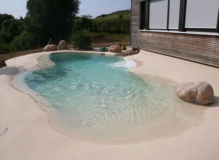Sand pool at home