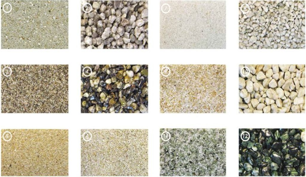 Sand pool materials