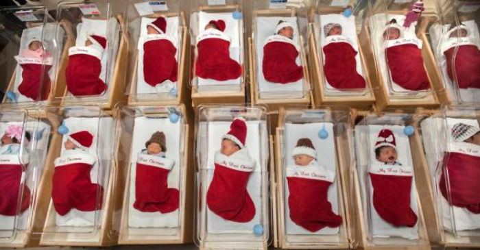 Hospital Has Adorable Tradition Of Sending Newborns Home In Stockings At Christmas