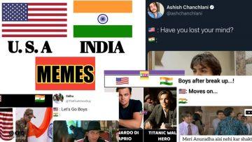 funny india v/s america memes